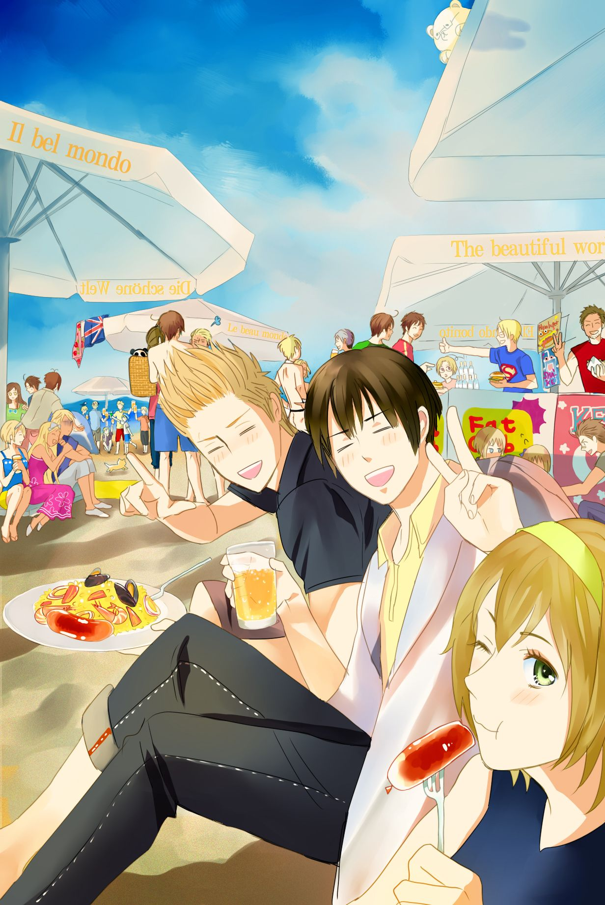 Tags: Axis Powers: Hetalia, Japan, Liechtenstein ...