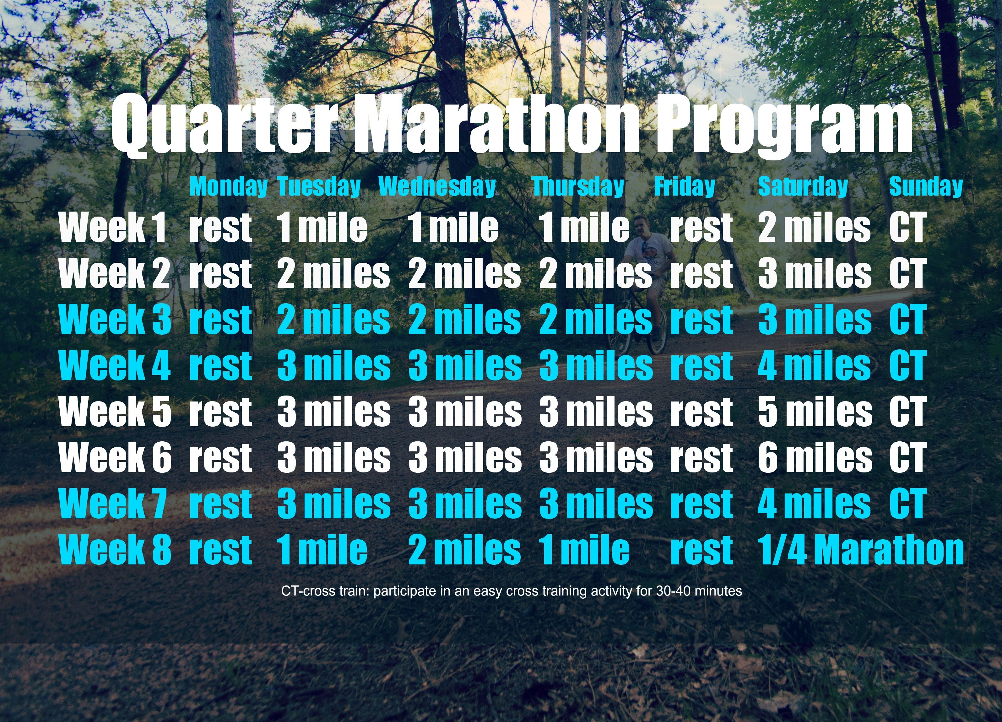 Quarter Marathon Program  Marathon Training  Fitness Tips