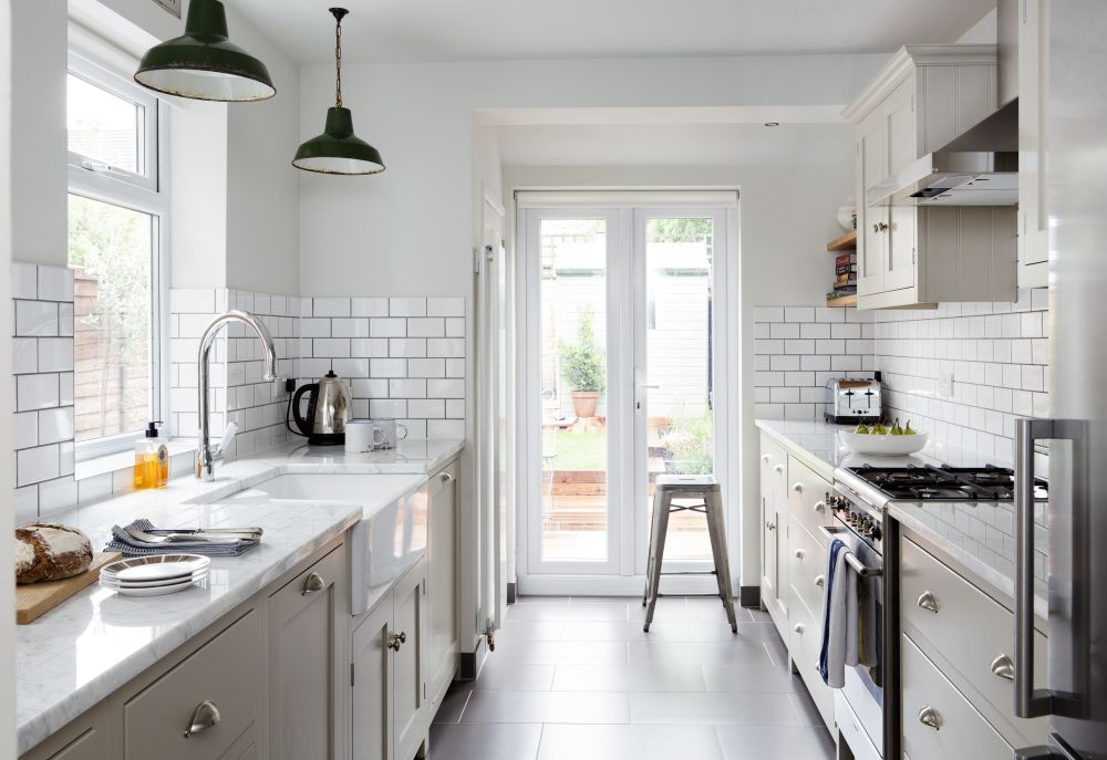 Stunning in suburbia victorian kitchens and galley kitchens for Updated galley kitchen photos