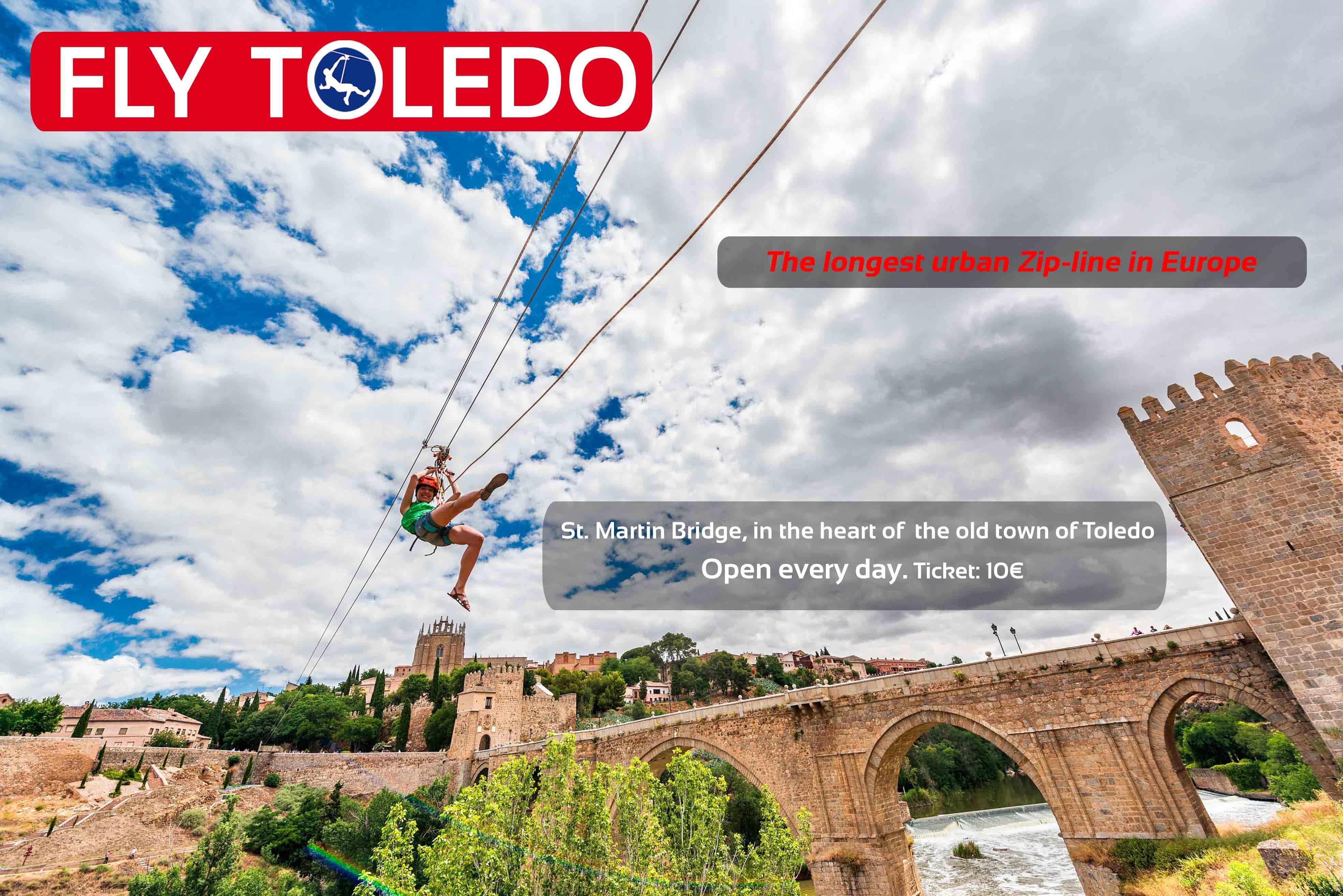 Fly Toledo Turismo Aventura Tirolina Visit Toledo Ziplining Old Town Toledo