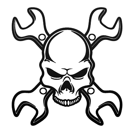 Wrench head decal Skull artwork, Skull art, Skull stencil