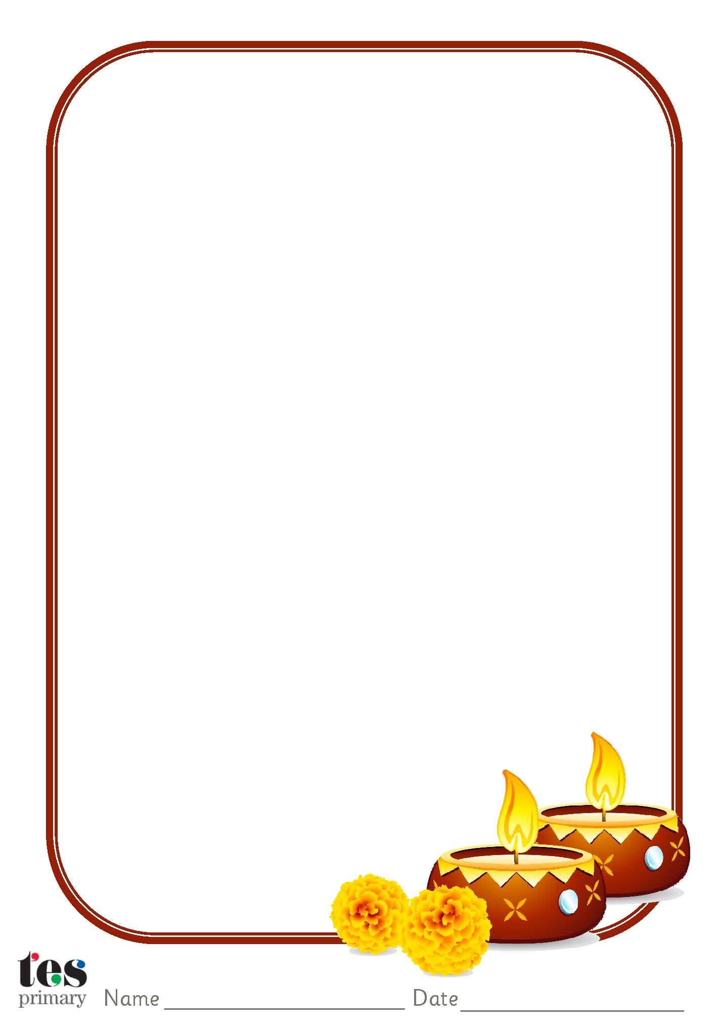 Diwali Themed Paper