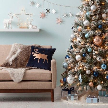Winter Wonder Ornaments Collection Wondershop Target Blue Christmas Decor Copper Christmas Christmas Apartment