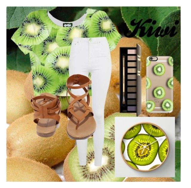 """""""Kiwi Lover"""" by kaitiebug1111 on Polyvore featuring Casetify, Topshop, Breckelle's and Clarins"""