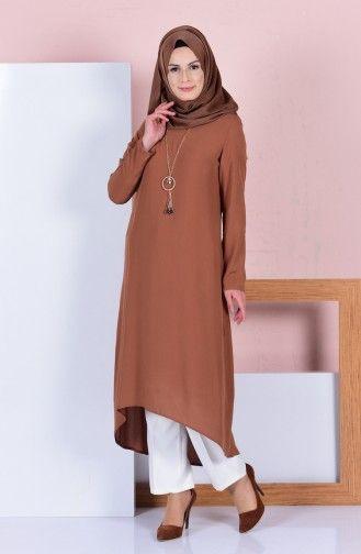 Sefamerve Taba Tunik Maksi Elbise Tunik Kiyafet