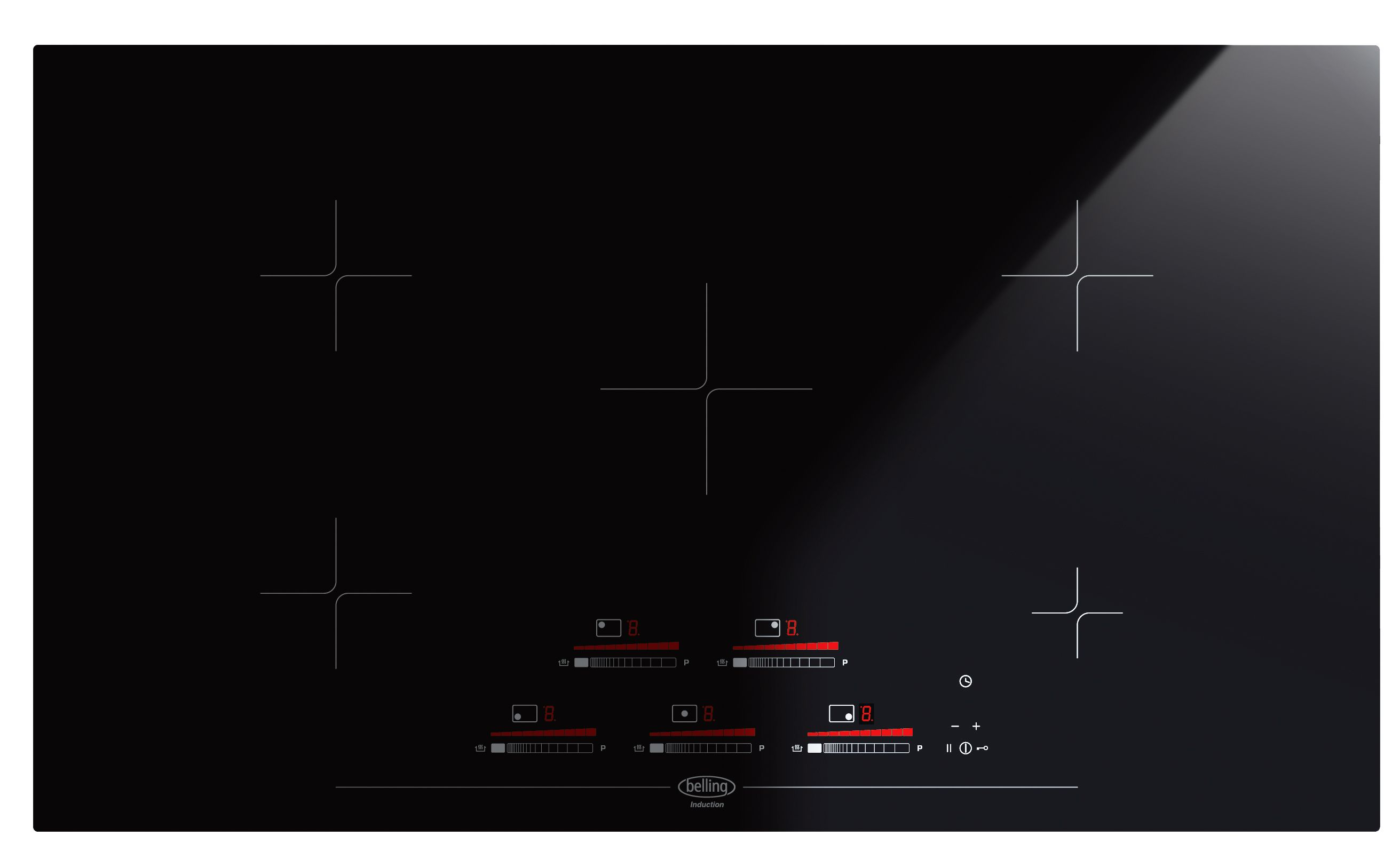 70cm Induction Cooktop 90cm Induction Cooktop With One Touch Controls Ihk90 Belling
