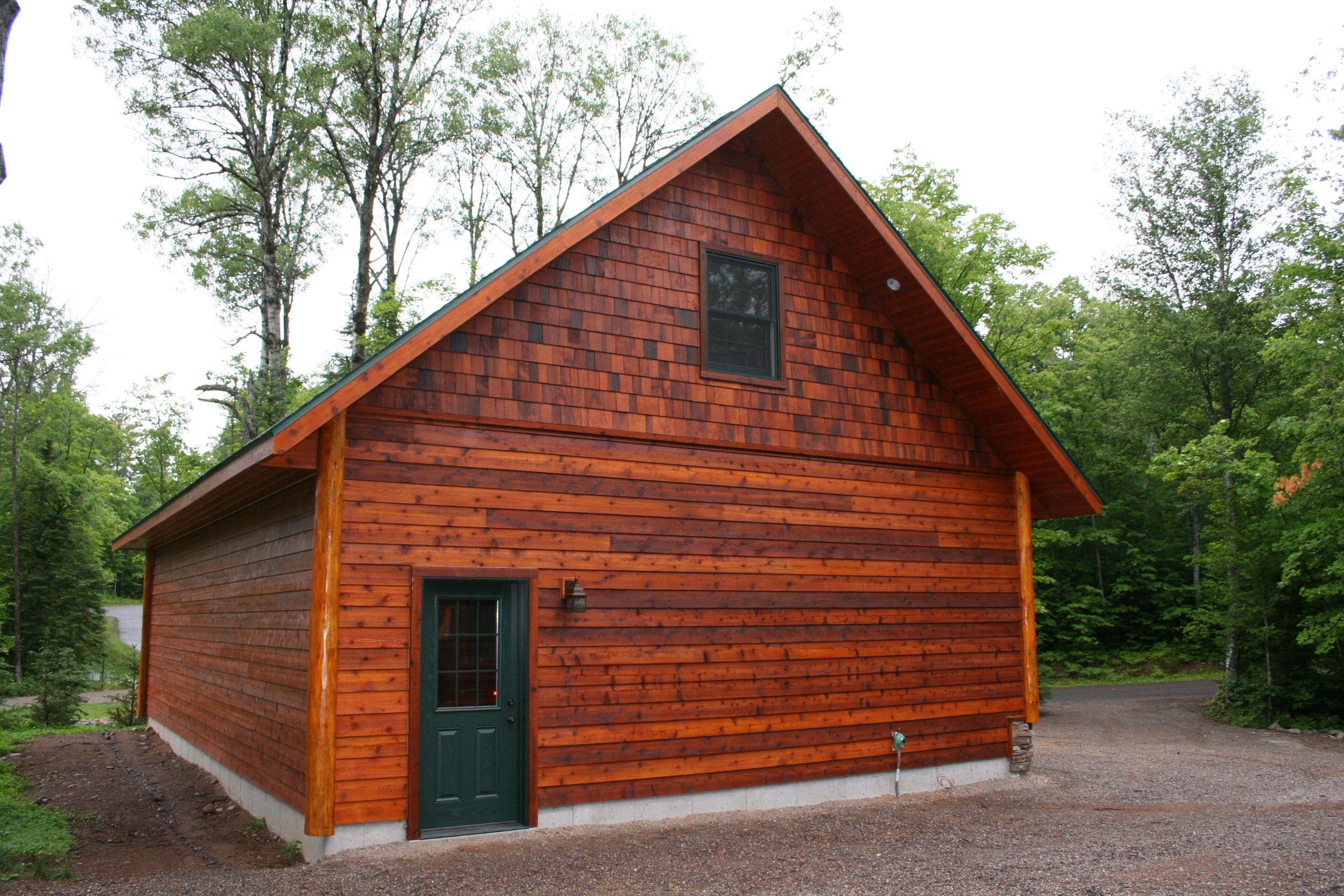 Red cedar log siding project mer ps backyard