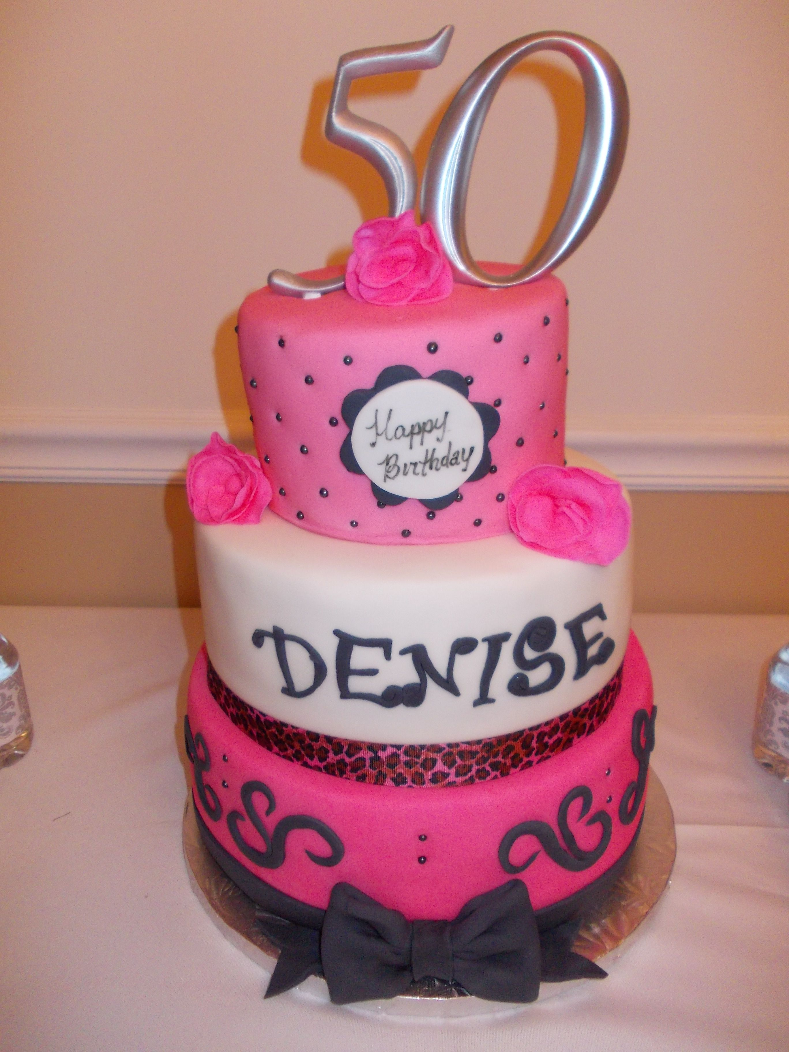 Denise S Bakery Cake Design Akademie : Special made 50th birthday cake for Denise. Birthday ...