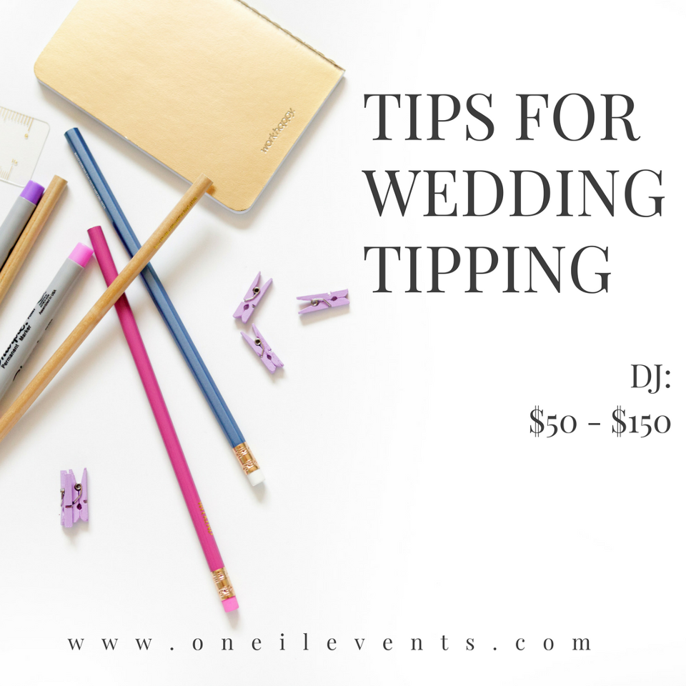 Tips from a wedding planner tipping wedding vendors junglespirit Image collections