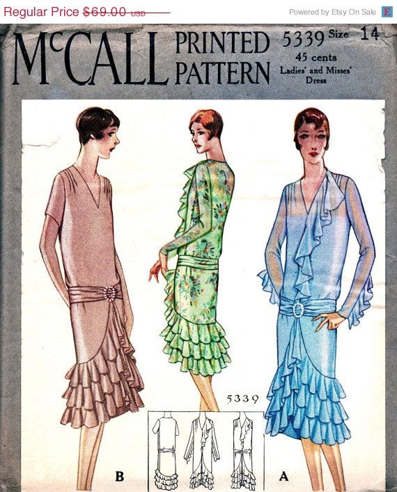 Sale Uncut 1920 S Mccall Pattern 5339 Beautiful Downton Abby