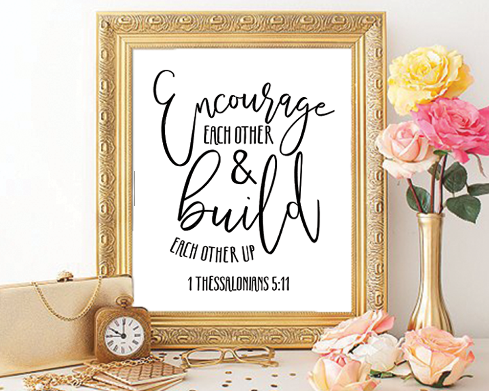 thessalonians modern calligraphy printable wall art x in