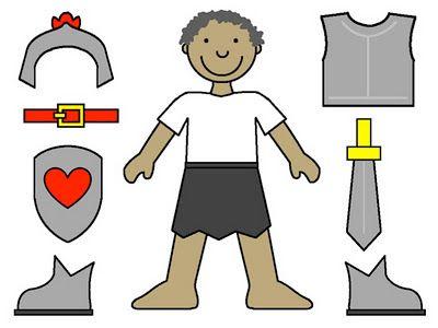 Efesios, la armadura de Dios.- láminas para imprimir, recortar y ...