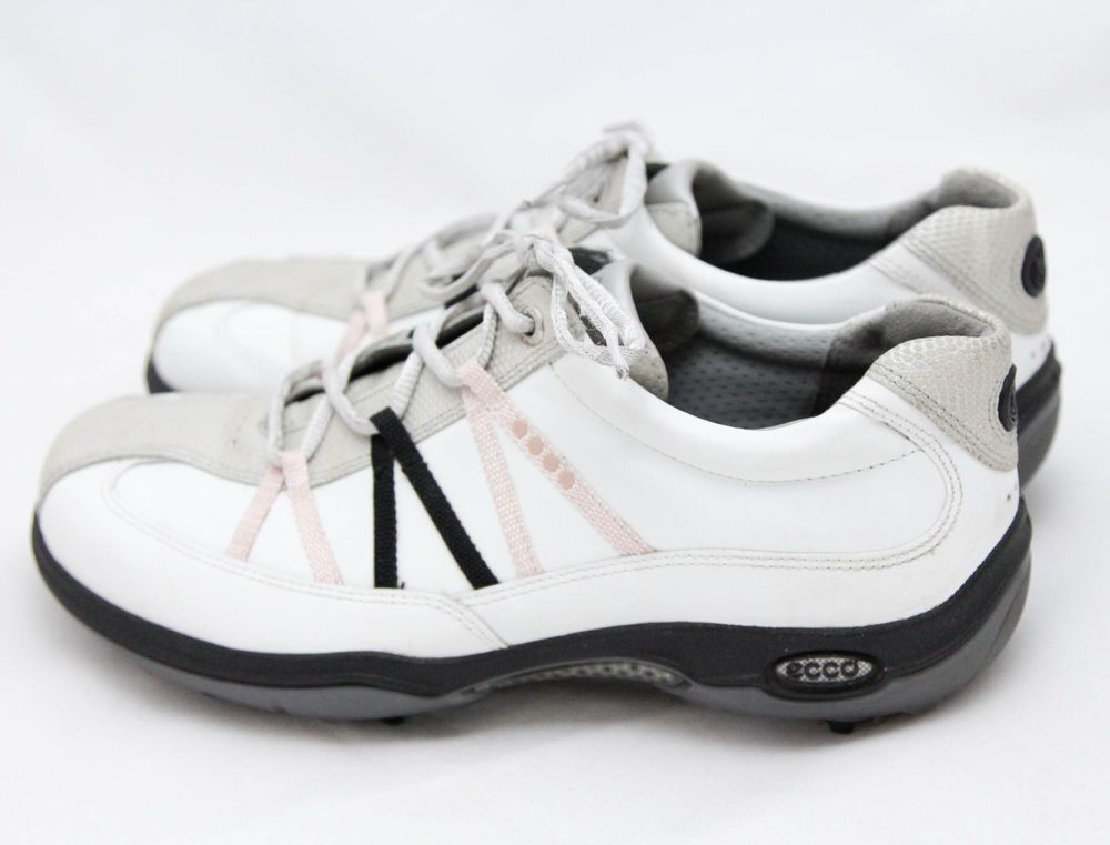 Ecco Womens Soft Spike Golf Shoes Sneakers EUR Size 39 US Size 8 - 8.5 EUC