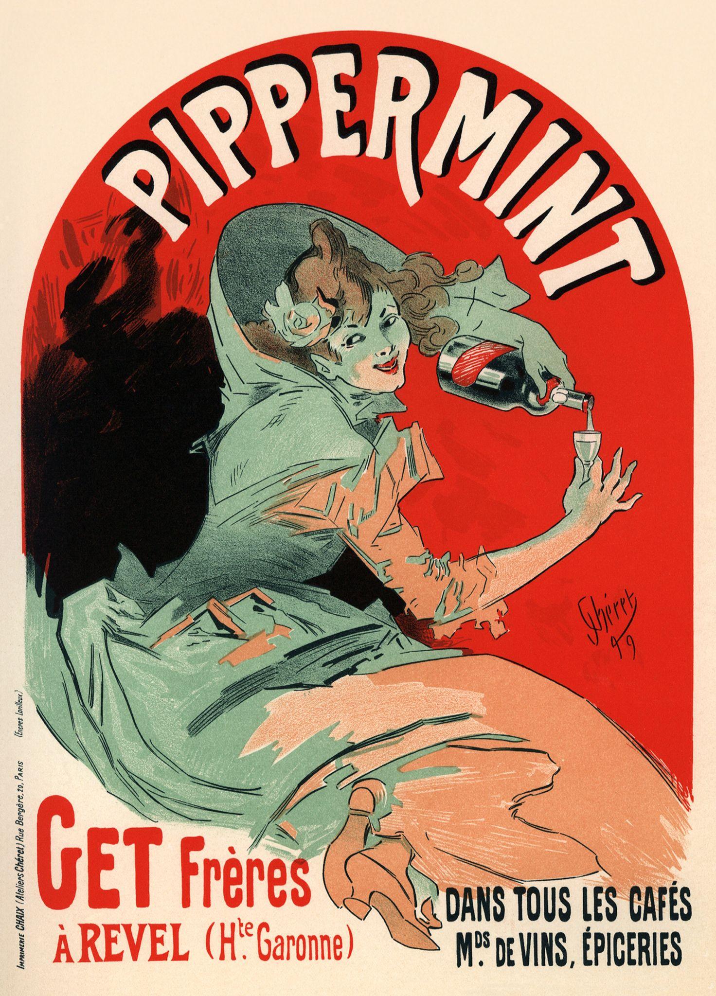 Peppermint Vintage Ads That Make Me Art Nouveau Poster Vintage Posters Vintage Wine