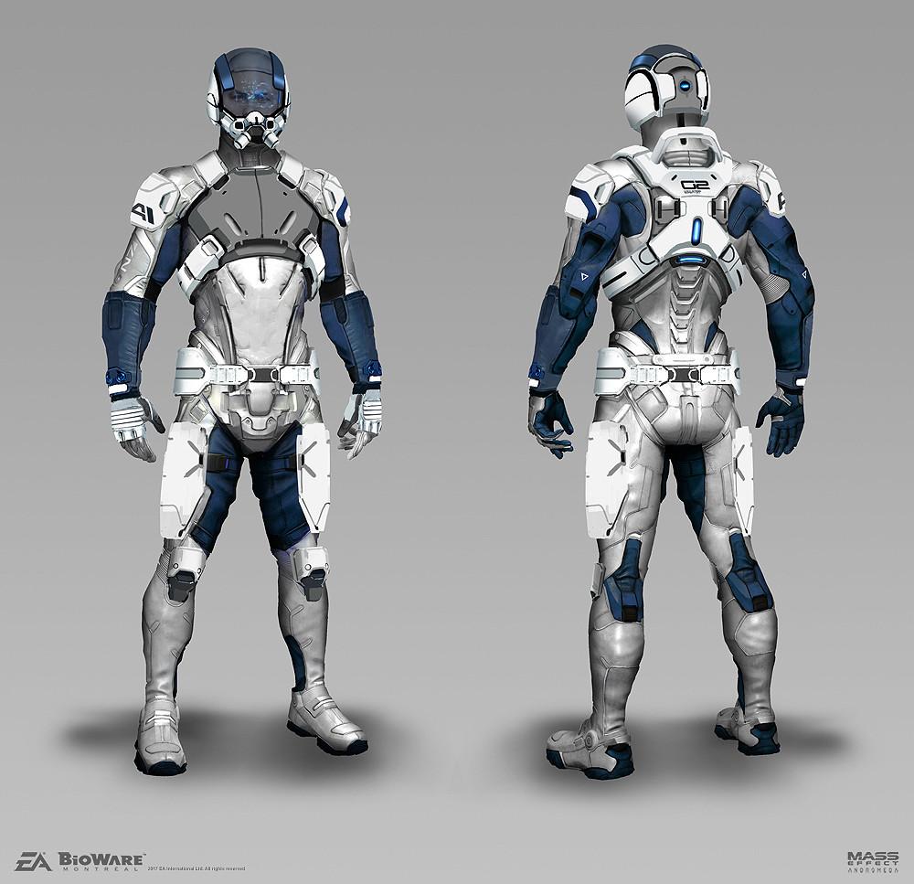 Artstation Mass Effect Andromeda Andromeda Armorset Brian Sum Overwatch Hero Concepts Armor Concept Mass Effect