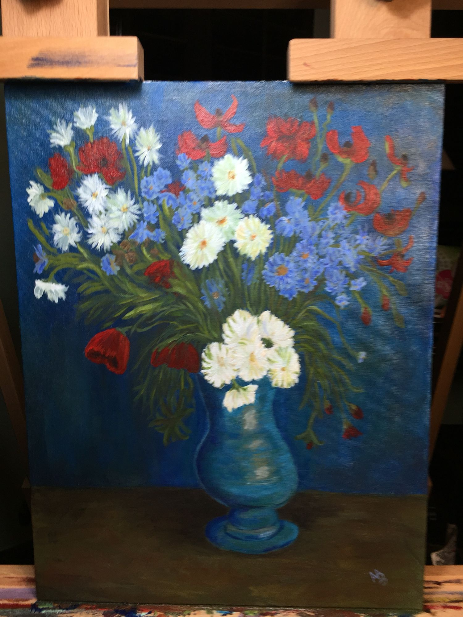 My van gogh blue vase painting blue vase van gogh