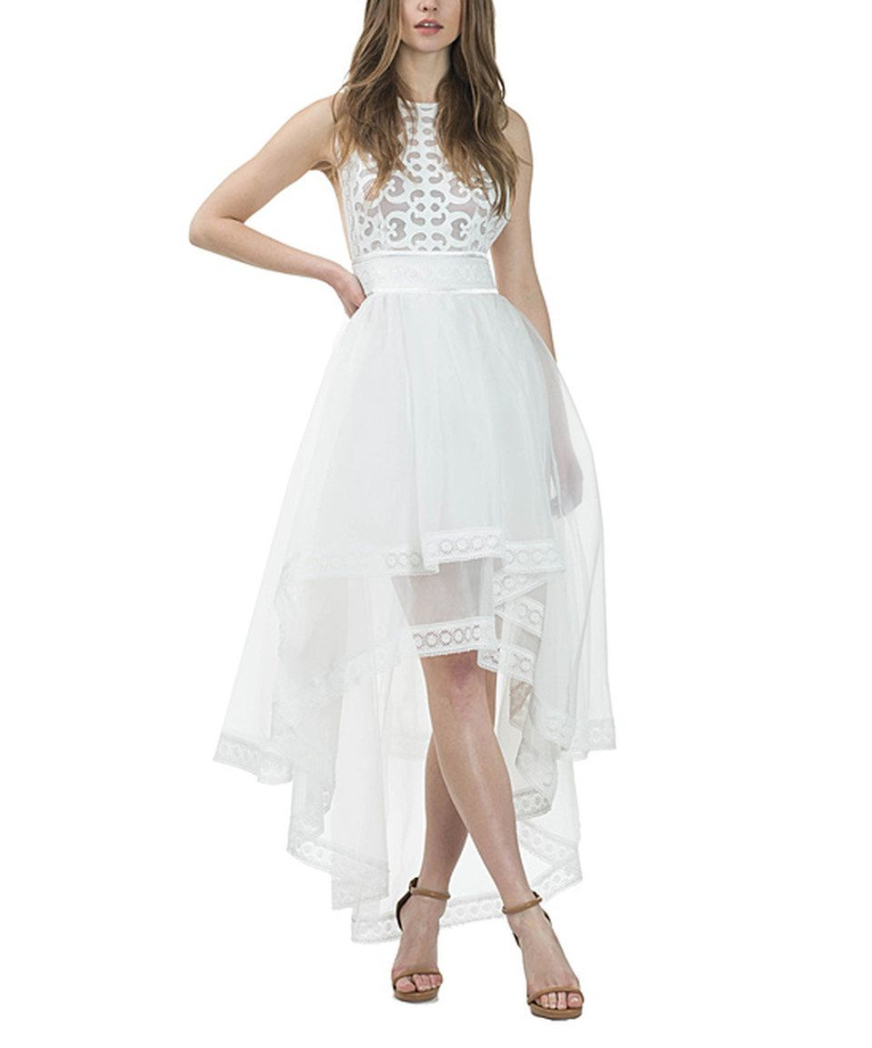 Look At This Zulilyfind Cqbycq Off White Lace Hi Low Dress By Cqbycq Zulilyfinds Hi Low Dresses Dresses White Lace [ 1152 x 959 Pixel ]