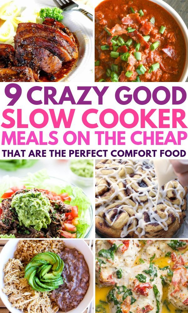 Best Cheap Slow Cooker Recipes That Are Also Healthy These Low Carb And Easy Comfort Foods Are Per Healthy Crockpot Recipes Cooker Recipes Slow Cooker Recipes