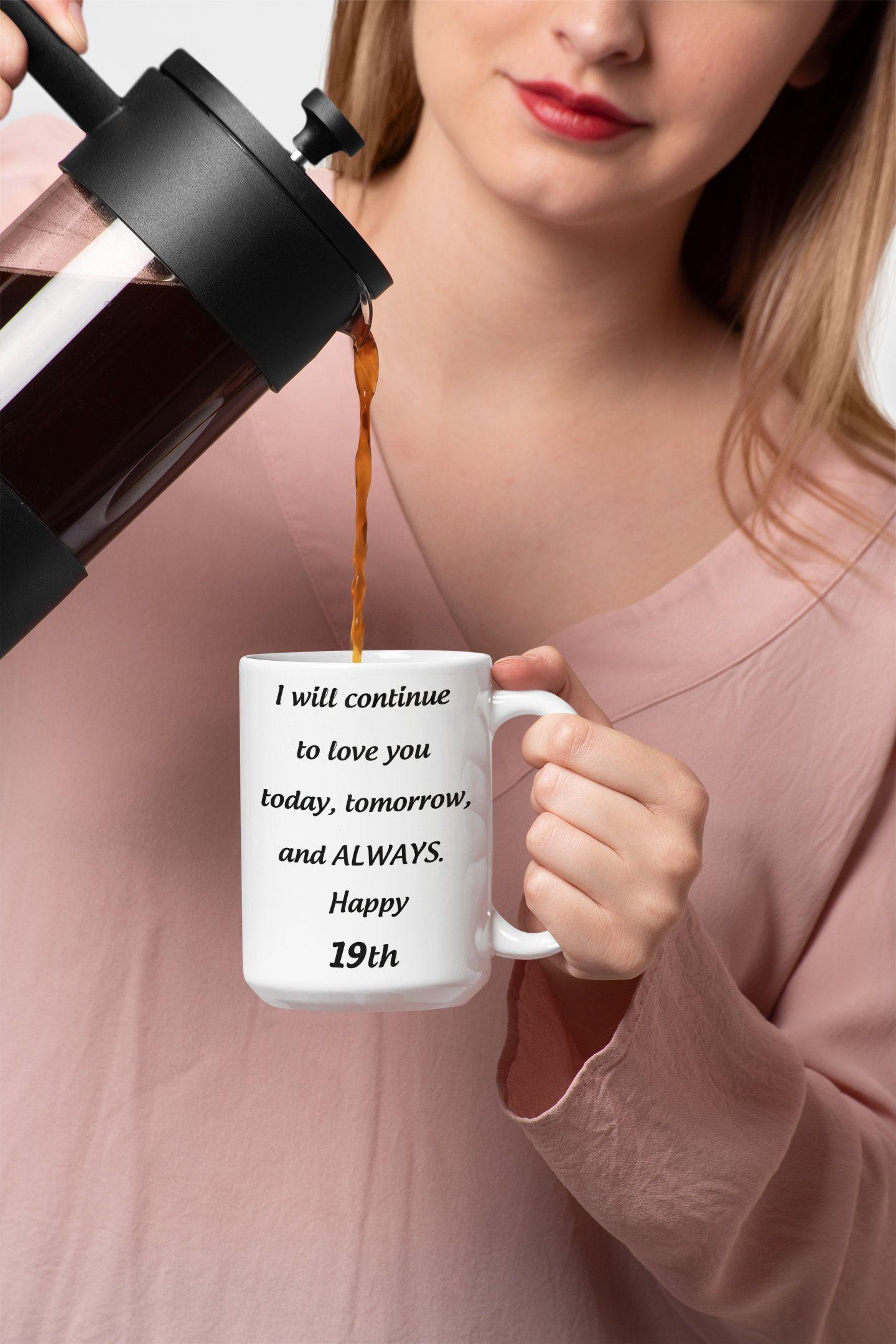 19th anniversary gift for her 19 yr birthday mug for girl