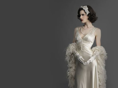 Hollywood-glam-wedding-dress-1 | 1930\'s wedding theme | Pinterest ...