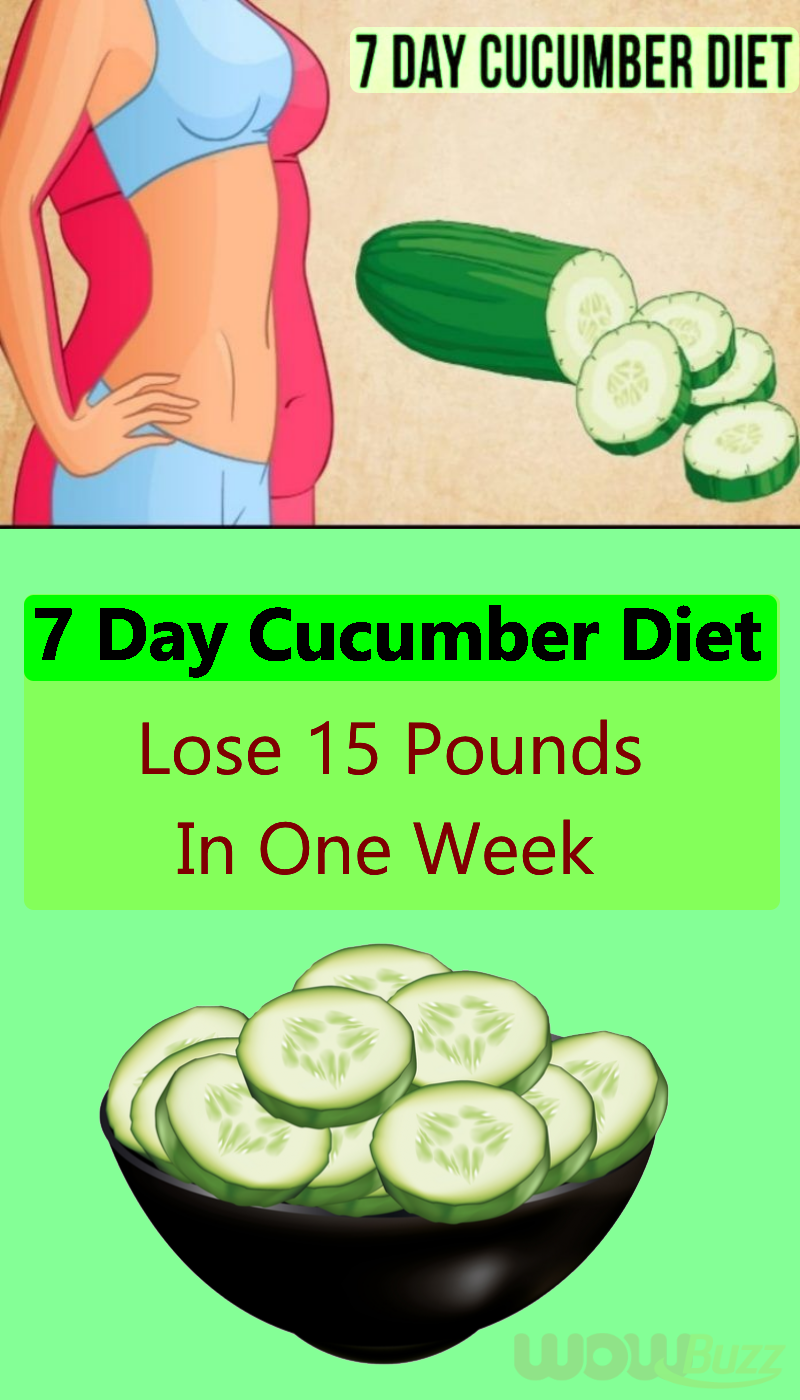 10-Day Cucumber Diet Help You Lose 10 Pounds In a Week  Cucumber