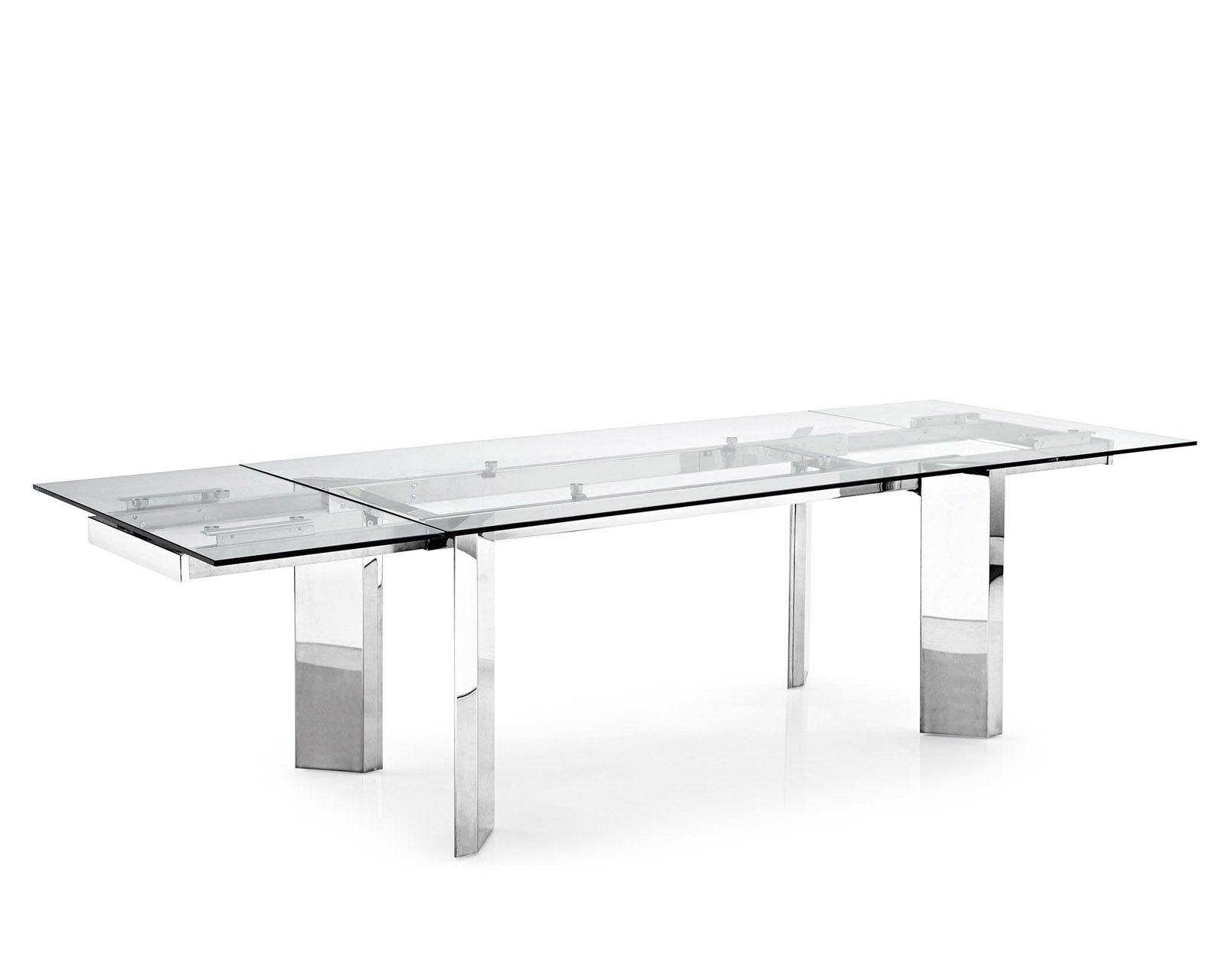 Tower extending metal-glass dining table Calligaris | CS/4057-R ...