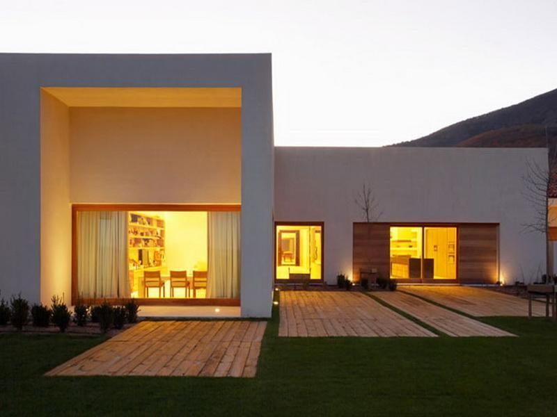 Beautiful Single Story Contemporary House Single Story Modern House Designs