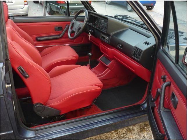 Vw Golf Cabriolet Mk1 With Red Seats Vw Mk1 Audio Coche Asiento De Cuero