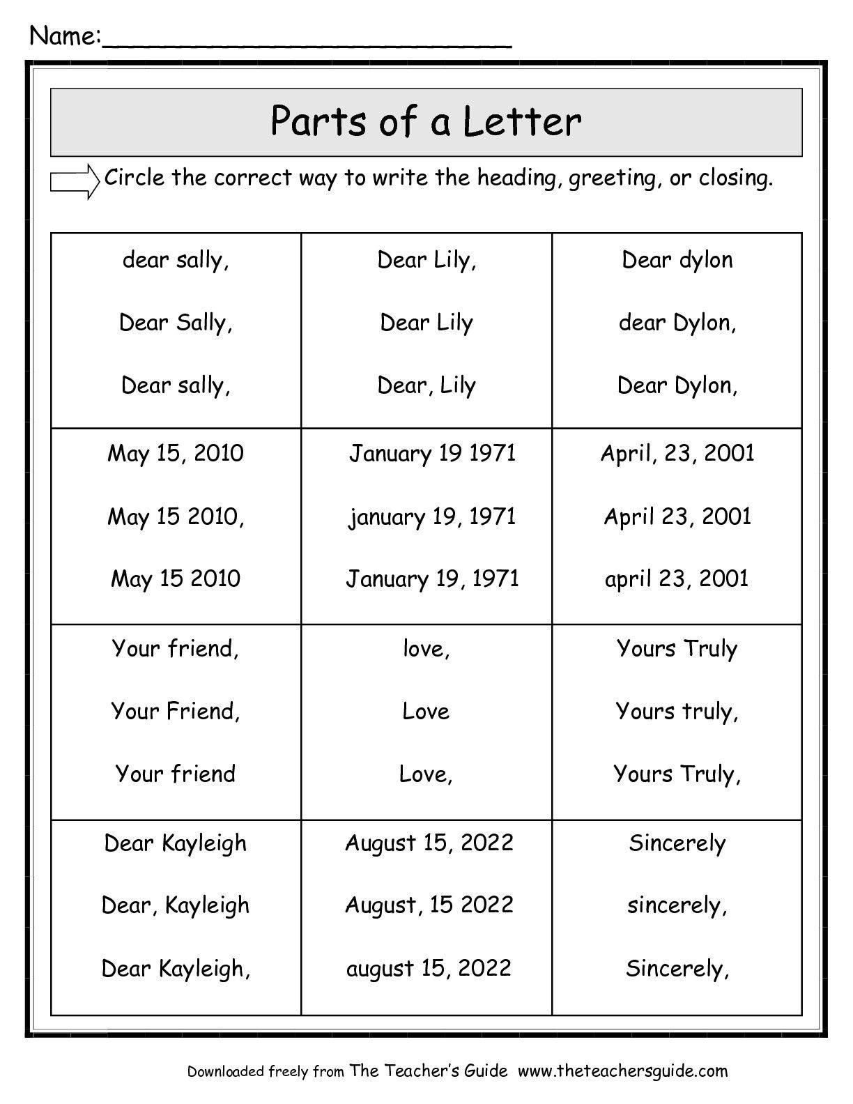 Write The First Letter Of The Picture Worksheets In