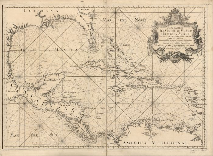 this 1755 nautical chart... a help in finding the Jolly Rovers of Baritaria…