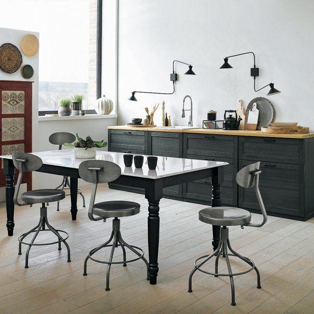2x salle à manger chaise Nelle CHAISE de CUISINE salle à manger cuisine chaise chaises chêne noir