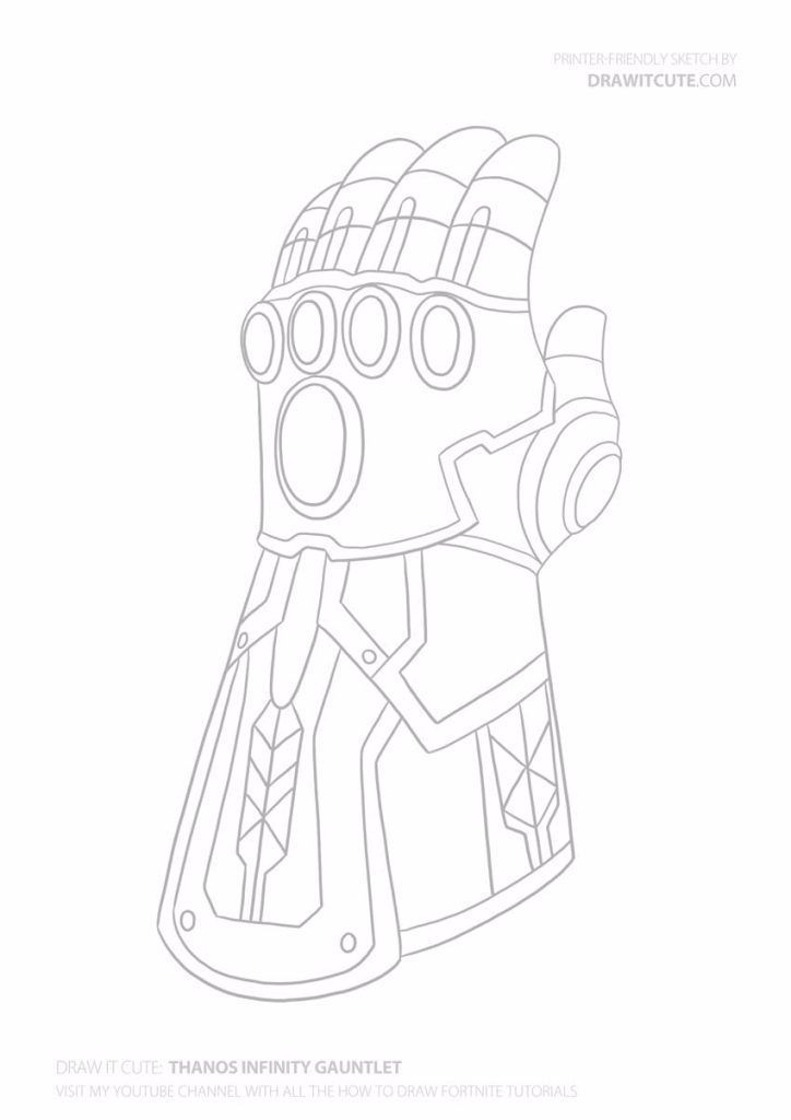 How To Draw Thanos Infinity Gauntlet Step By Step Guide With
