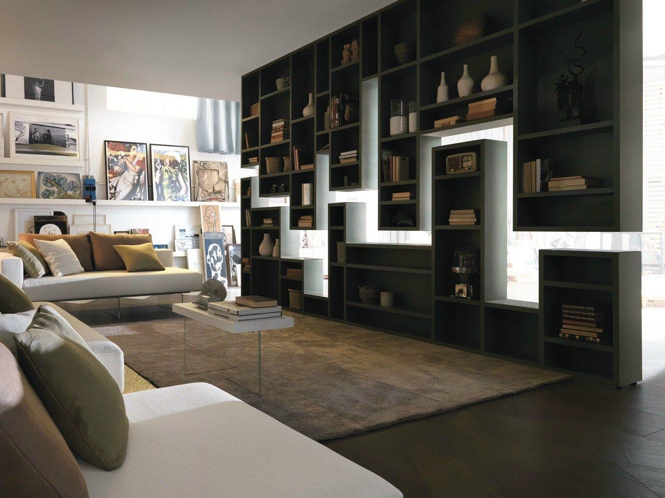 Parete attrezzata divisoria fissata a soffitto 30mm - Parete divisoria casa ...
