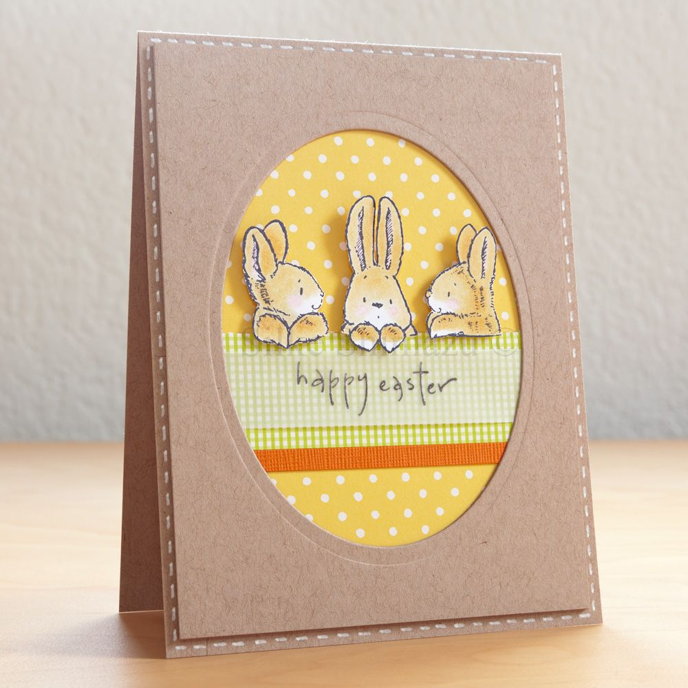 Papercraft Card Making Ideas Part - 20: Bunny Friends Easter Card