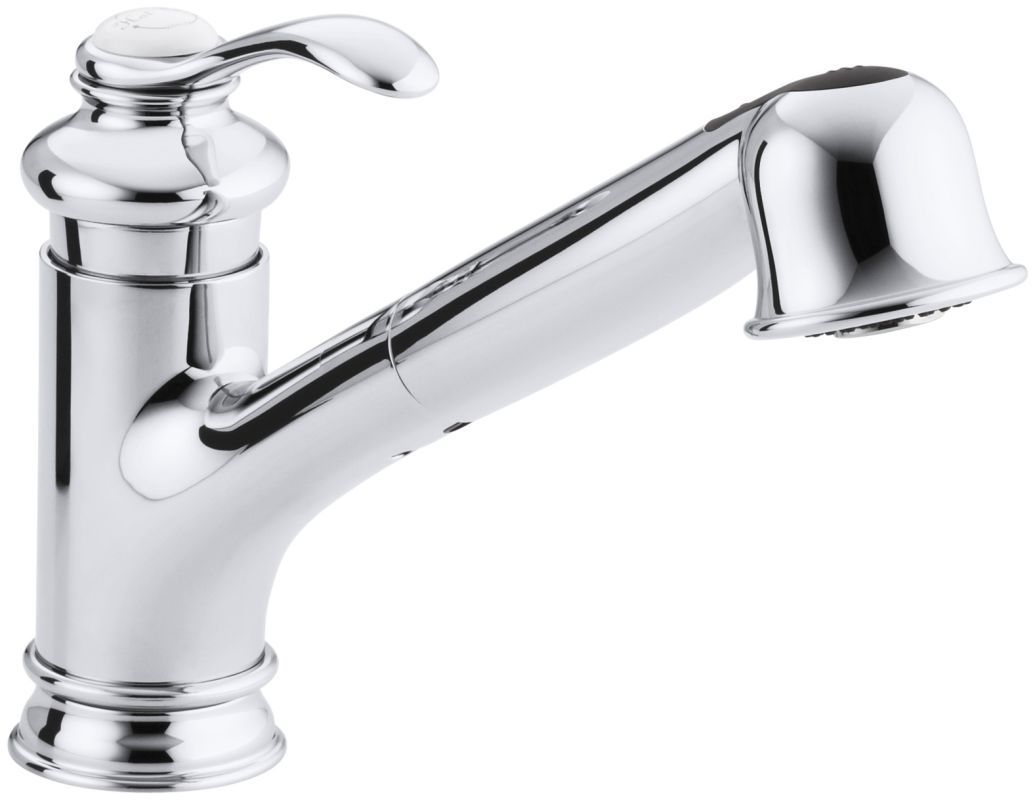 Kohler K-12177 Fairfax Pull Out Kitchen Faucet Polished Chrome ...