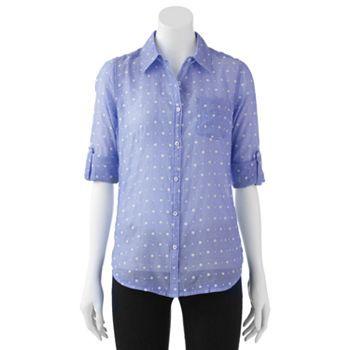 31e5611a4 SO® Button-Front Top - Juniors | cute clothes! | Tops, Buttons, Mens ...