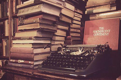 Books and Typewriter
