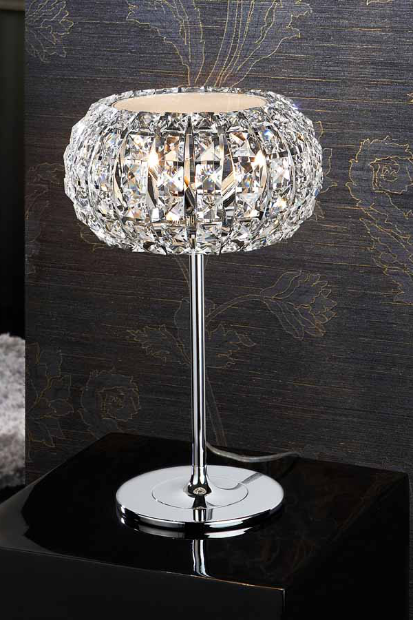 Featuring an elegant diamond like shade this table lamp - Elegant table lamps for living room ...