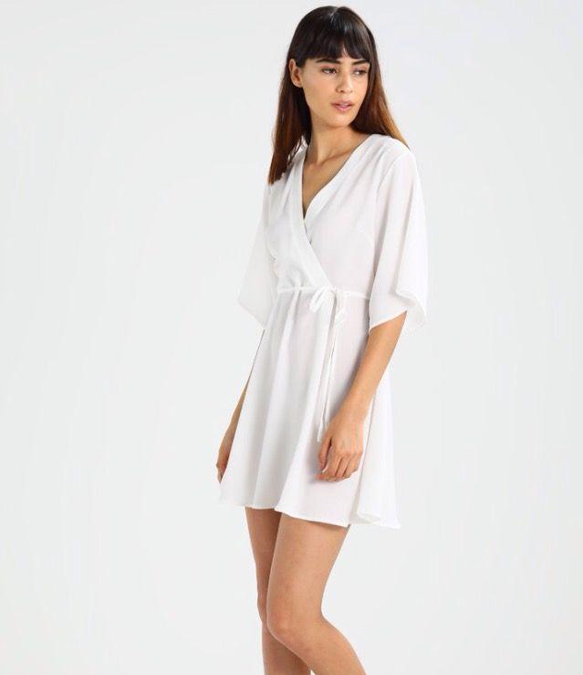 fcf94be6afea7b Korte jurk - white   Zalando.be 🛒. Glamorous