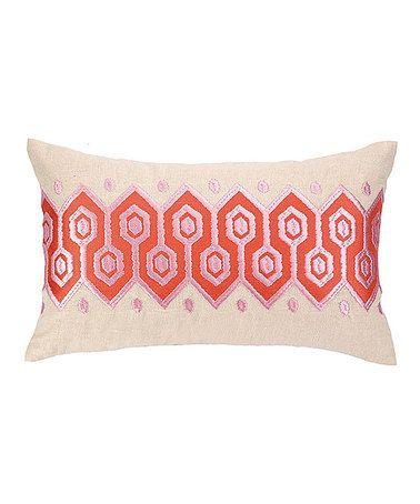 Coral Springtime Soiree Hexagon Throw Pillow #zulily #zulilyfinds