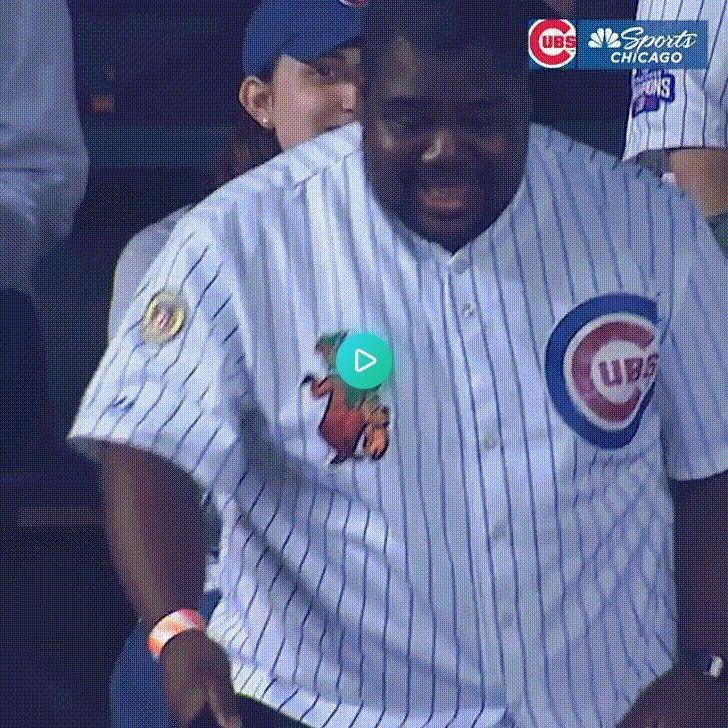Cubs fan wows the crowd Cubs fan, Funny gif, Secret