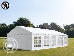 5x10 m party sátor, PVC tűzálló fehér
