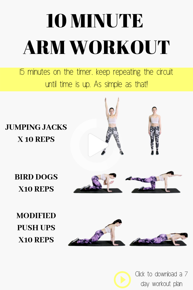 7 DAY FREE WORKOUT PLAN Start a weight loss journey with this simple but effective 7-day workout pla...