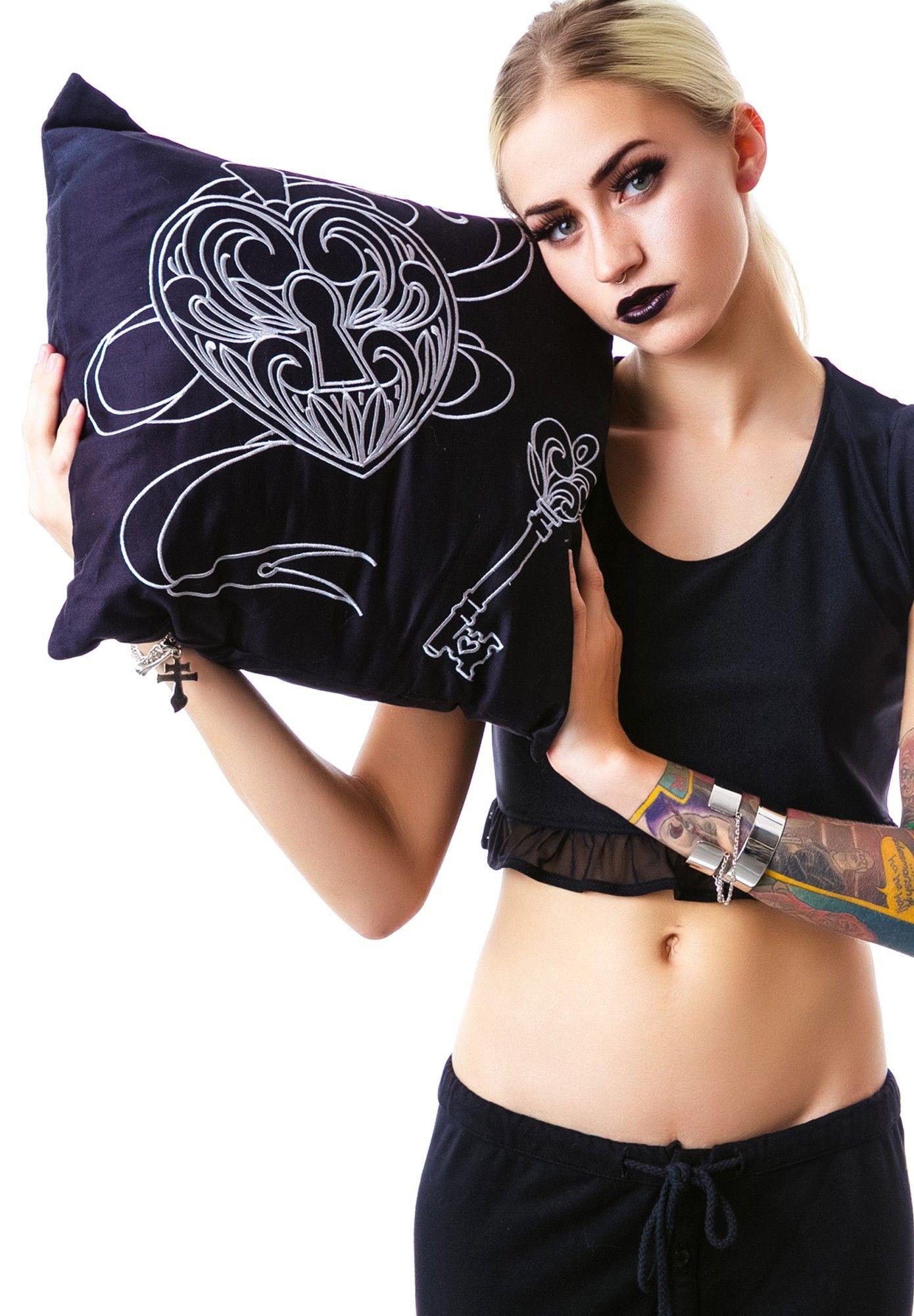 Sin in Linen Key to My Heart Locket Pillow | Dolls Kill