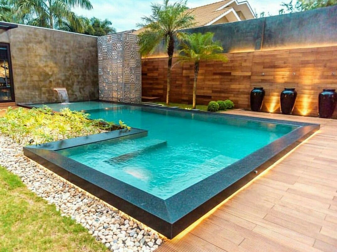 Kitchenarquitecture piscinas pinterest piscinas for Casa de campo pequena con piscina