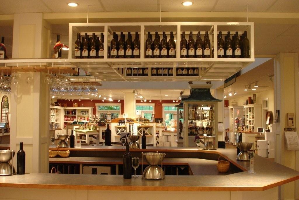 Display used wine bottles in cellar