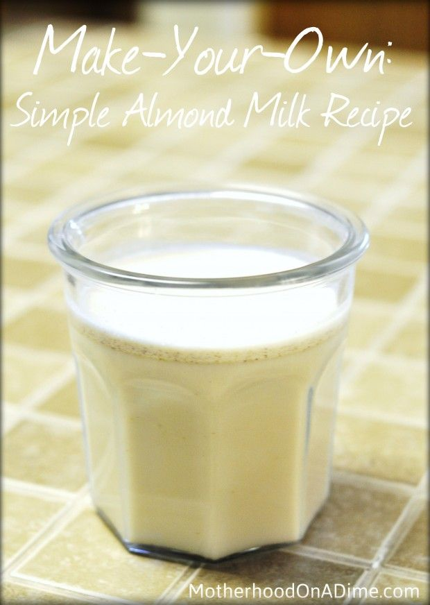 Running low on non-dairy milk?  Here's a quick recipe for almond milk.