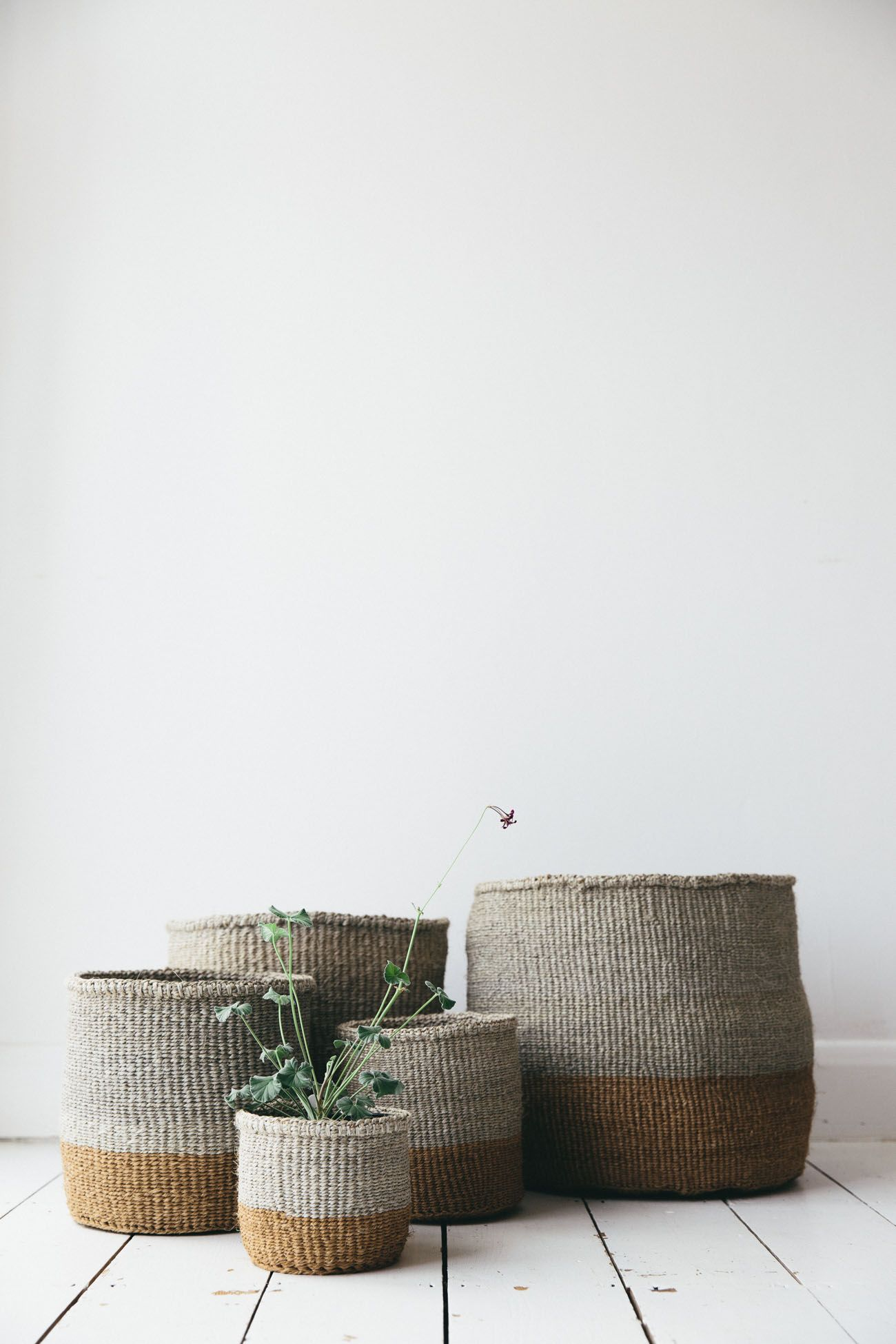 African Woven Hamper Stunning African Natural Sisal Woven Baskets Handwoven By