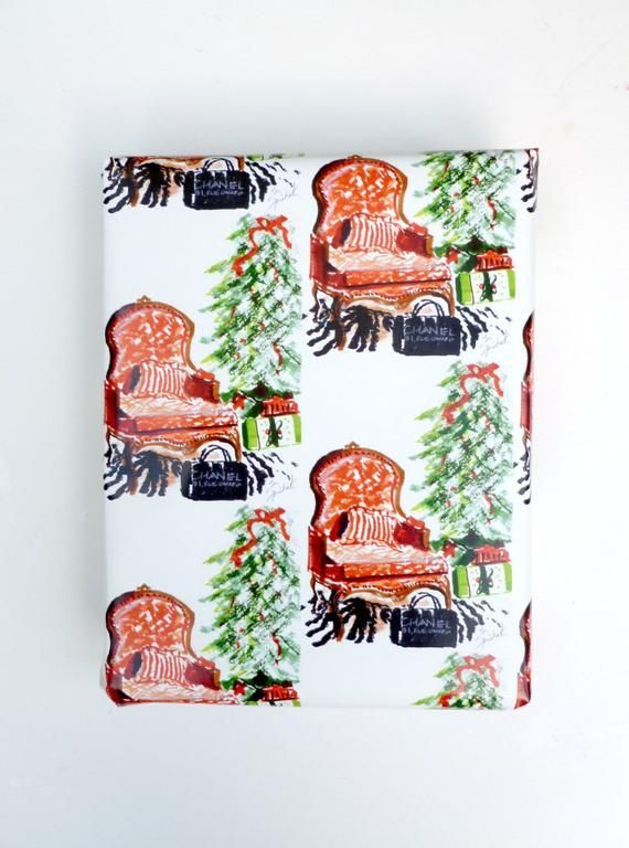 Christmas Wrapping Paper Gift Wrap Paper French Chair Bergere Sketch Christ In 2020 Christmas Wrapping Paper Christmas Wrapping Gift Wrapping Paper