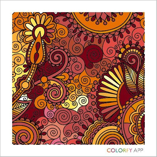 Colorfy Coloring books, Colorful art, Artwork